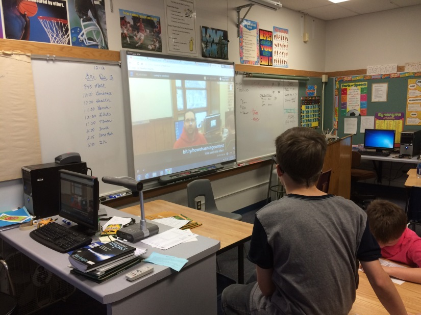 5th graders helped me create a video newsletter with the app Touchcast. We shared our good news with the school community.